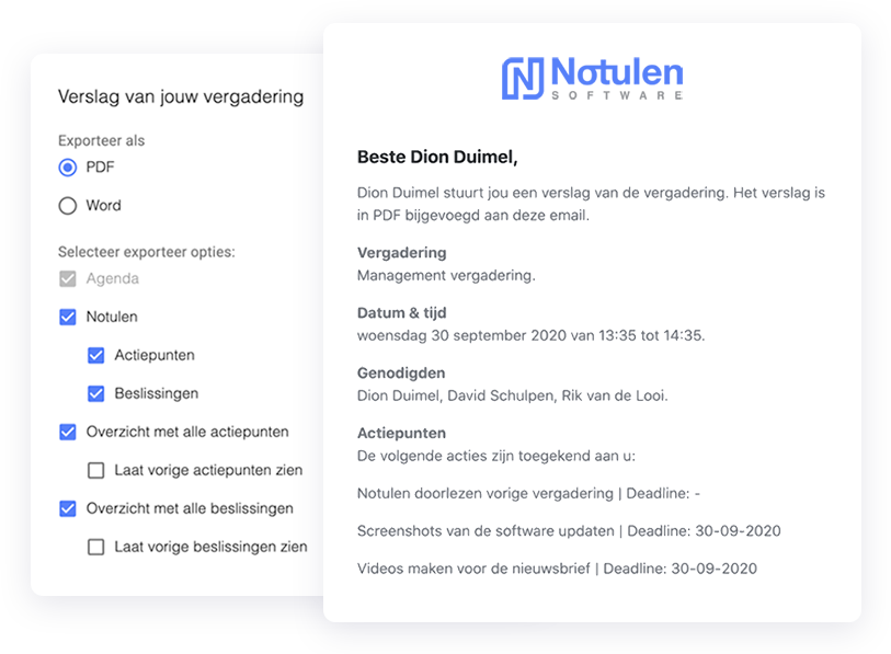 Notulen Software digitaal vergaderen
